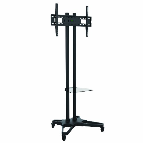 Bentley Mounts CMS-1021B Height Adjustable Mobile TV Stand for 37-Inch To 70-Inch Monitors (Shelf Included)