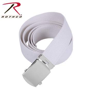 Web Chr - Rothco Military Web Belts, White, 54