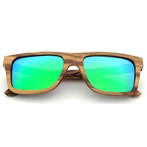 Hommes de Mode Protection Jaune Bois Bambou Lunettes UV pour Lunettes Soleil Main Lunettes en Green Lunettes De Le Soleil Couleur À Polarisées La Soleil Faites q0Az0xw4