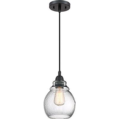 Quoizel QPP2790K One Light Mini Pendant, Small, Mystic Black