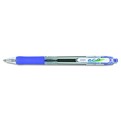 Zebra 22520 Zebra Jimnie Clip Retr Ballpoint Pen, Translucent Brl, Blue Ink, Med, 1.0 mm, Box of 12