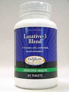 Therapy Laxative (Enzymatic Therapy Laxative-3 Blend -- 60 Tablets by Enzymatic)