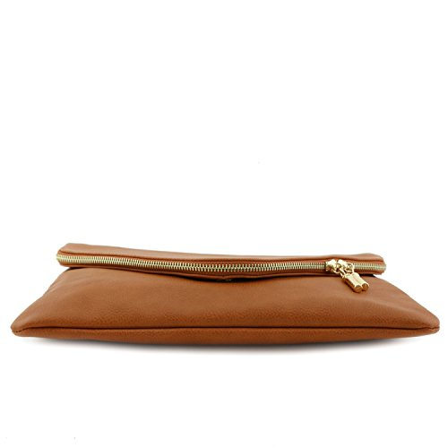 Strap Tan Clutch Bag Chain with Envelope Large 4vRxFF