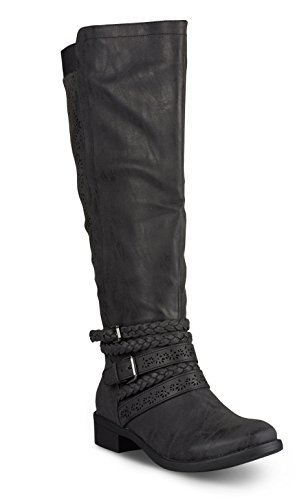 Wide Size Motorcycle Boots - 6