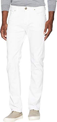 (Versace Jeans Men's White Jeans White 34)