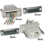Dealsjungle Modular Adapter, Beige, DB15 Male to RJ45 Female