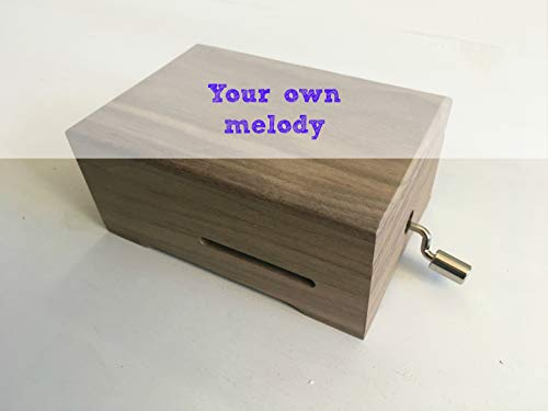 DIY (Do It Yourself) Pack to make your very own music box. Great gift for music lovers. The pack contains: A blank wooden music box and a musical mechanism that you can personalize....