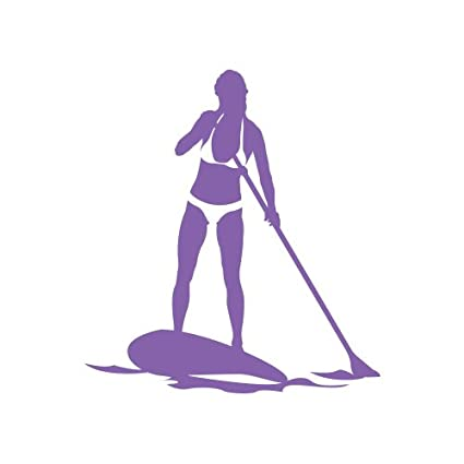 Amazon.com: RDW Girl Paddleboarding Sticker - Decal - Die Cut surf Paddle Board Woman - Purple: Automotive