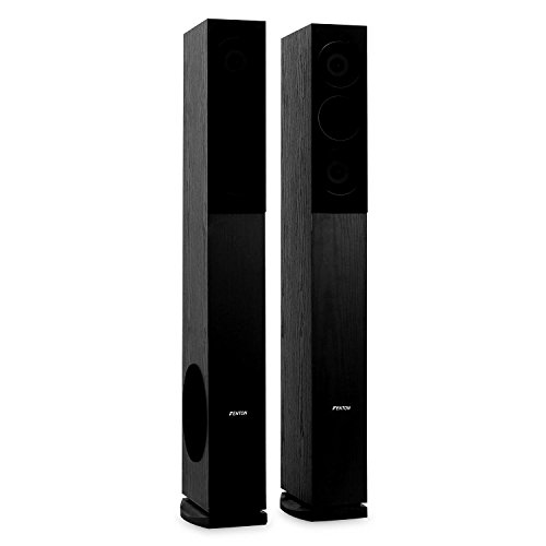 Skytronic SHFT52B Tower Speakers Pair Floor Standing HiFi Home Theatre 500W...