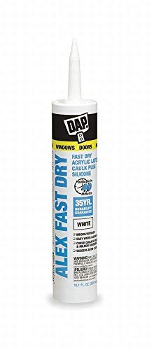 Dap Inc 18425 10.1 oz. Alex Fast Dry Acrylic Latex Caulk Plus Silicone - White - 12 Pack