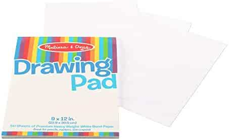 """Melissa & Doug Drawing Paper Pad (Sturdy Coloring Paper for Kids, Pages Tear Cleanly, 50 Pages, 9"""" x 12"""", Great Gift for Girls and Boys - Best for 3, 4, 5 Year Olds and Up)"""