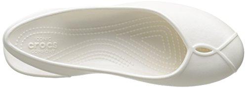 Oyster Flat Crocs II Blanco para Bailarinas Olivia Mujer Women w81qp7xw
