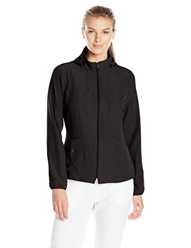 - HeartSoul Scrubs Women's Break on Throughin Da Hood Warm-up Jacket, Black, Medium