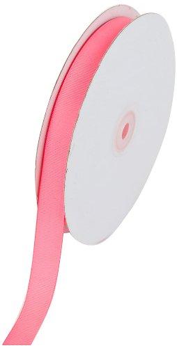 (Creative Ideas 50-Yard Solid Grosgrain Ribbon, 5/8-Inch, Neon Pink)