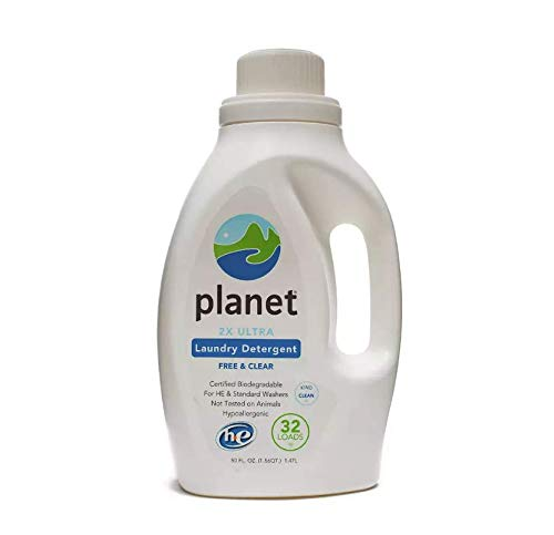 Planet 2x HE Ultra Laundry Liquid Detergent, 32-Loads, 50 Ounce Bottle