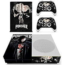 Vanknight Xbox One S Slim (XB1 S) Console 2 Controllers Remote Skin Set Vinyl Skin Decals Stickers Covers Wrap for XB1 S Skull