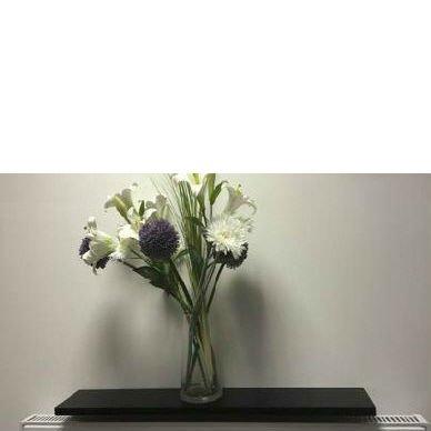 Gloss Black Radiator Shelf 1200x150x25mm 48x6 Inch Amazon Co Uk