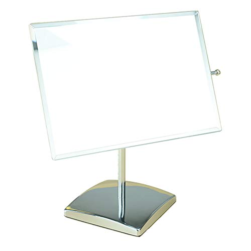 Makeup Mirror Square Desktop 360 Degree Rotating High List Adjustable Angle Anti-Skid -