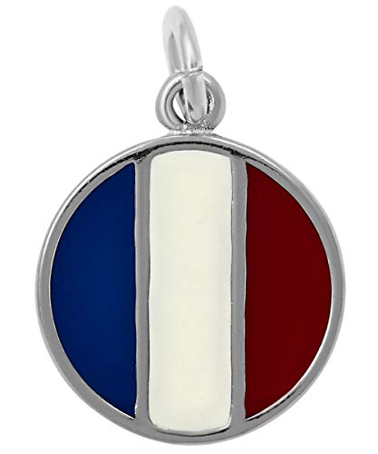 - Raposa Elegance Sterling Silver France Flag Charm (approximately 12.5 mm x 12.5 mm)