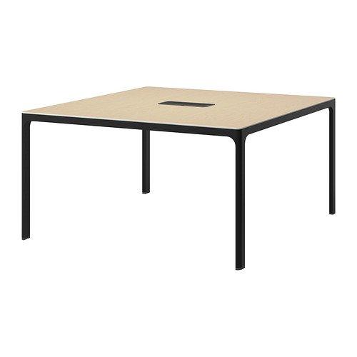 BEKANT 会議用テーブル, バーチ材突き板, ブラック 190.062.81 B017O4R3XG
