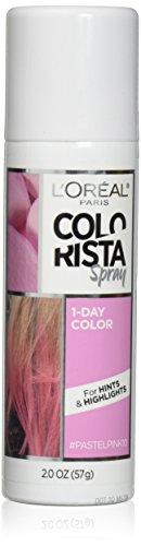 L'Oreal Paris Hair Color Colorista 1-Day Spray, Pastelpink, 2 Ounce