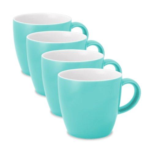 FORLIFE Uni Espresso/Oolong Tea Cup (Set of 4), 3.5 oz., (Blue Teacup)