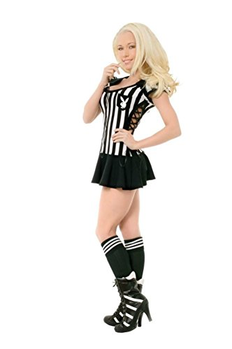Playboy Womens Racy Referee Sports Outfit Fancy Dress Sexy Costume, Large (14-16)