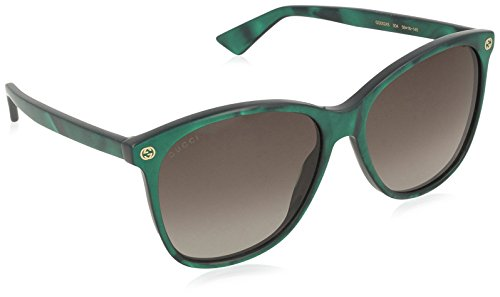 Gucci GG0024S 004 Green-Green and Brown Lense Sunglasses - Gucci Sunglasses Buy Online