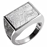 Starborn Creations Sterling Silver Muonionalusta Meteorite Galaxy Ring