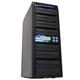 Produplicator A7DVDS24X 1 to 7 target SATA Serial ATA 24x DVD Plus --RW Drive CD DVD Multiple Burner Duplicator Plus USB 2.0 Connection