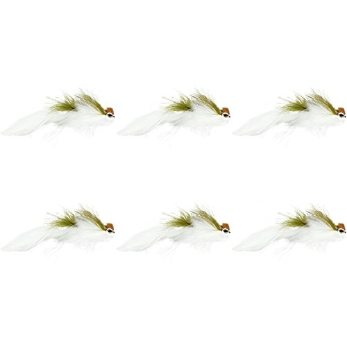 Montana Fly Company Galloup's Flatliner - 6 Pack Olive/White, 1/0 Olive Streamer
