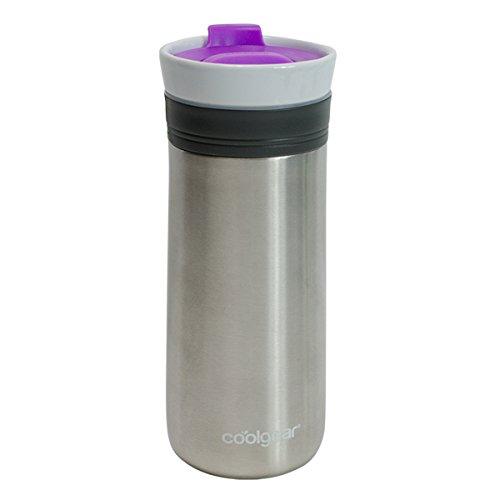 coolgear KAFE 12oz Kona Grip ceramic & Stainless Steel Coffee Mug-Purple, 12 oz, Purple