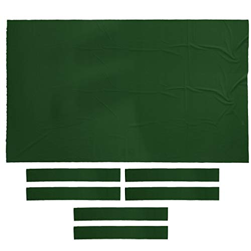 SM SunniMix Heavy Duty 9ft Pool Snooker Table Cloth Felt Indoor Games Billiards Accessories - Green (Billiard Tablecloth Table Accessories)