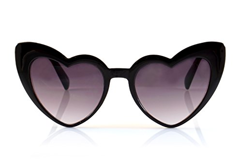 FBL Iconic Celebrity Heart Cat-Eye Smoke Lens Sunglasses A059 - Large Sunglasses Eye Cat
