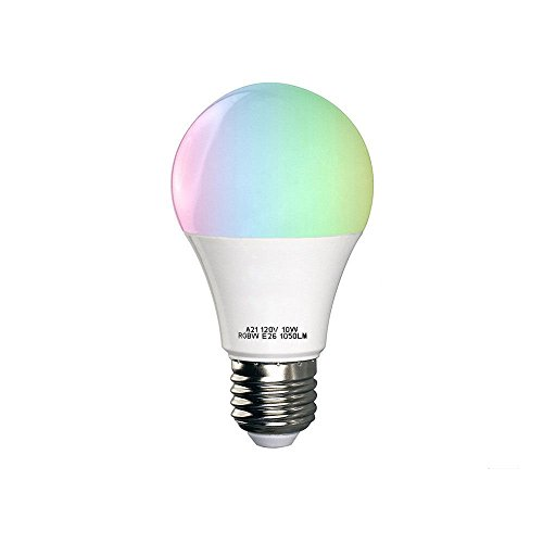 iMeshbean Smart WiFi LED Light Bulb, Multi-color, Dimmable, No Hub Required, Free APP Remote Control, 10W Daylight Bulb Compatible with Alexa Echo, Google Home