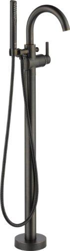 Delta Faucet T4759-RBFL Trinsic Floor Mount Tub Filler, Venetian Bronze