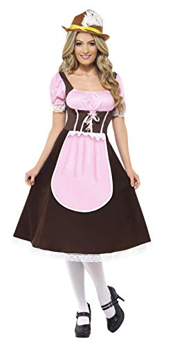 Smiffys Women's Tavern Girl Costume Long Dress with