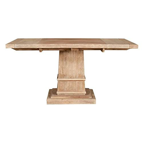 Rustic 44'' - 64'' Square Meeting Table in Stone Wash