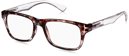 Peepers Unisex-Adult Fact or Fiction 698100 Rectangular Reading Glasses, - Eyewear Fiction
