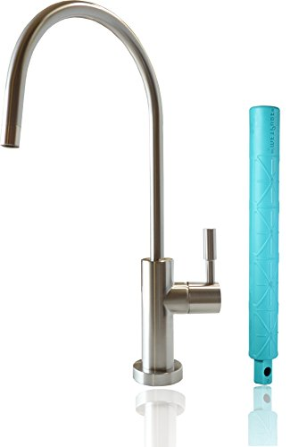 Metpure Reverse Osmosis Faucet,360° Swivel Kitchen Sink Filter Drinking Water Purifier Filtration Faucet,Non-airgap RO System NSF100% Lead-Free Water Dispenser Spout(Brushed Nickel) +Faucet Wrench by Metpure
