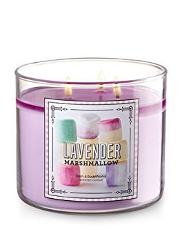 Bath and Body Works Lavender Marshmallow 3 Wick 14.5 oz Candle (Best Smelling Bath And Body Works Candles)