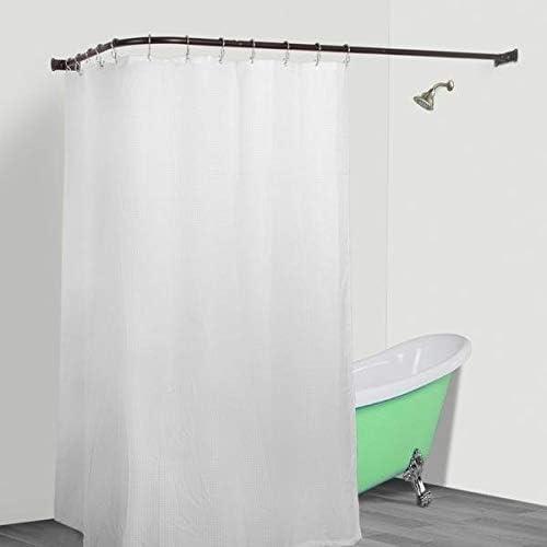 Amazon.com: MISC L Shaped Shower Curtain Rod Bronze Aluminum Wrap