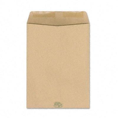 Ampad Earthwise 100% Recycled Paper Catalog Envelope, Side Seam, 9 x 12, Kraft, 110/Box