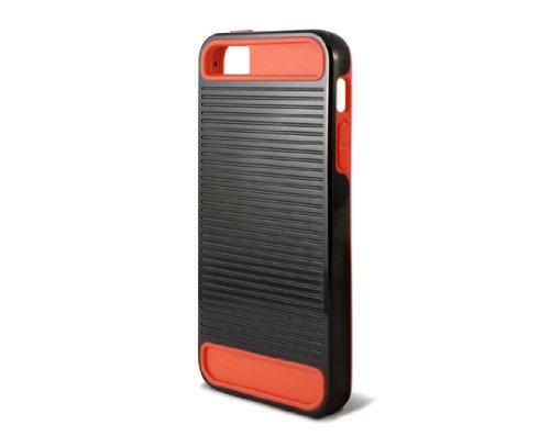 KSIX B0914FTP12 TPU Ebot Case für Apple iPhone 5 schwarz/rot