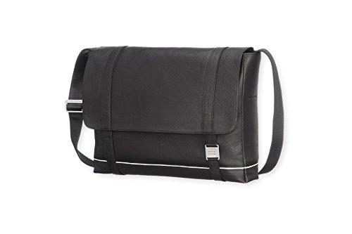 Moleskine Lineage Messenger Bag, Leather, Black by Moleskine