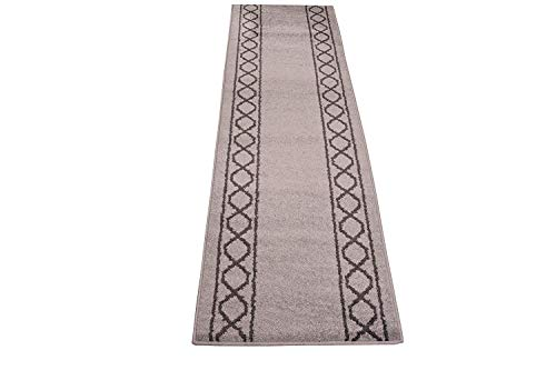 Custom Runner Trellis Design Roll Runner 26 Inch Wide x Your Length Size Choice (Light Grey 50 ft x 26in)