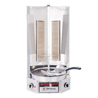 Autodoner G300-LP Optimal Premium Vertical Broiler for Gyros, Liquid Propane, Stainless Steel, Medium
