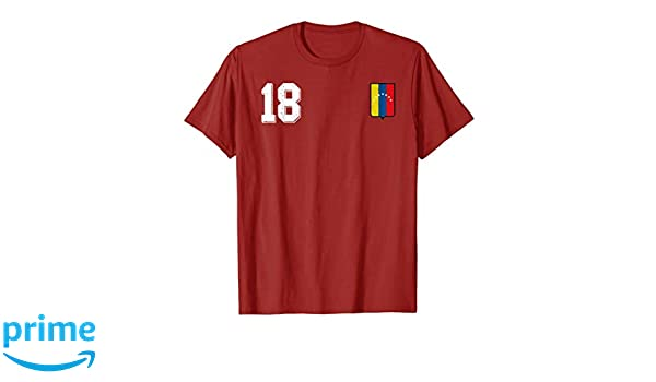 Amazon.com: Venezuela Soccer T-Shirt Retro Camiseta Vinotinto Futbol 18: Clothing