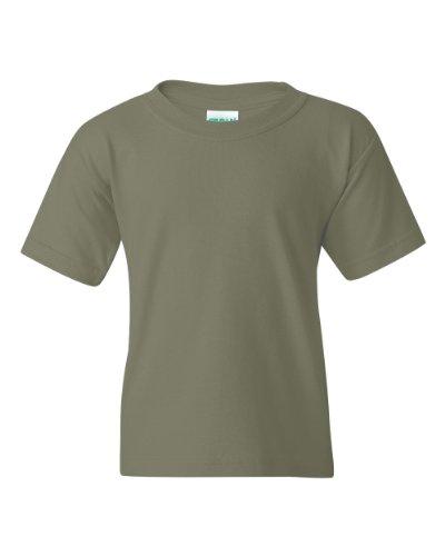 Gildan Heavy Cotton Youth 5.3 oz. T-Shirt, Small, MILITARY G