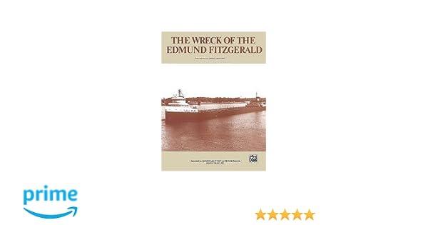 The Wreck Of The Edmund Fitzgerald Sheet Music Gordon Lightfoot